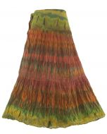 Hippie Gypsy Tie Dye LONG Wrap Skirt M L XL