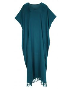 Teal blue Caftan Kaftan Loungewear Maxi Plus Size Long Dress 3X 4X