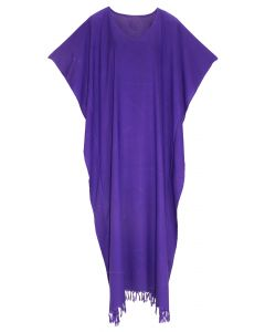 Purple Caftan Kaftan Loungewear Maxi Plus Size Long Dress 3X 4X