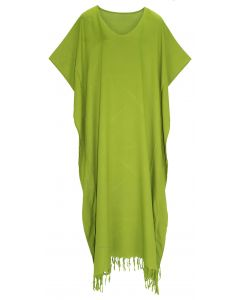 Avocado green Caftan Kaftan Loungewear Maxi Plus Size Long Dress 3X 4X