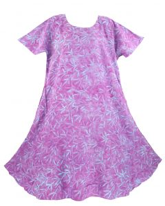 Purple Batik Caftan Tunic Tank Long Dress Cover Up Plus Sz 1X 2X