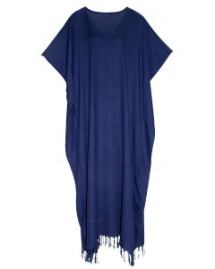 Navy blue Caftan Kaftan Loungewear Maxi Plus Size Long Dress XL 1X 2X