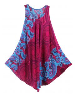 Fuchsia Tank Dress Cover Up Plus Sz 3X