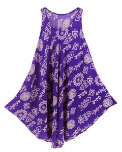 Purple Tank Dress Cover Up Plus Sz 3X