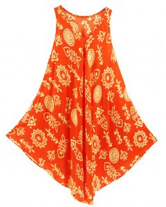 Orange Tank Dress Cover Up Plus Sz 3X