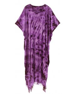 Purple Tie Dye Caftan Kaftan Maxi Long Dress 1X 2X 3X 4X