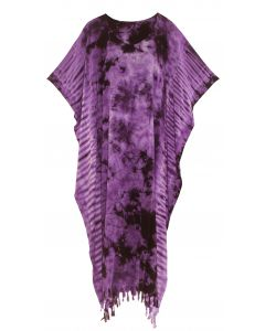 Purple Tie Dye Caftan Kaftan Loungewear Maxi Plus Size Long Dress XL to 4X