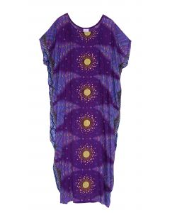 Purple Bohomein Flora Plus Size Kaftan Kimono Loungewear Maxi Long Dress XL 1X 2X