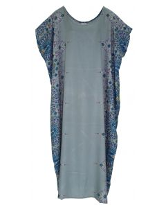 Grey Bohomein Flora Plus Size Kaftan Kimono Loungewear Maxi Long Dress XL 1X 2X