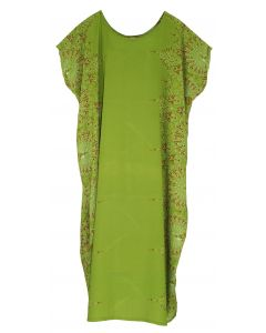 Olive Bohomein Flora Plus Size Kaftan Kimono Loungewear Maxi Long Dress XL 1X 2X
