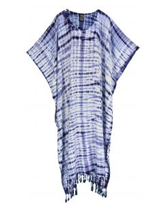 Dark blue Hippie Tie Dye Caftan Kaftan Loungewear Maxi Plus Size Long Dress XL to 4X