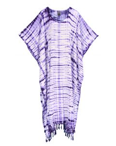 Purple Hippie Tie Dye Caftan Kaftan Loungewear Maxi Plus Size Long Dress XL to 4X