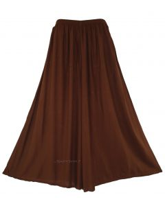 Brown Women Palazzo Wide Leg Pants Trouser Plus Size 1X 2X 20 22