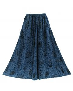 Dark blue Palazzo Wide Leg Pants Trouser 1X 2X 3X