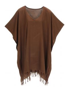 Brown Hippie Tunic Blouse Kaftan Top 1X 2X 3X 4X