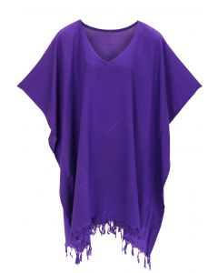 Purple Hippie Tunic Blouse Kaftan Top XL 1X 2X