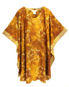 Brown HIPPIE Batik CAFTAN KAFTAN Plus Size Tunic Blouse Kaftan Top 3X 4X