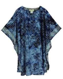 Dark blue HIPPIE Batik CAFTAN KAFTAN Plus Size Tunic Blouse Kaftan Top 3X 4X