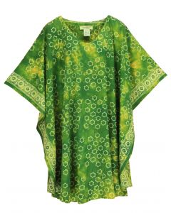 Green HIPPIE Batik CAFTAN KAFTAN Plus Size Tunic Blouse Kaftan Top 3X 4X