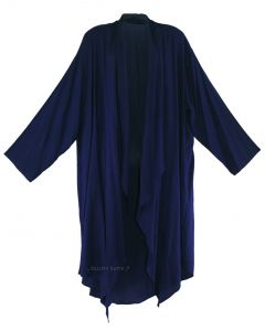 Navy blue Long Sleeve Plus Size Cardigan Cover up Duster Jacket 1X 2X