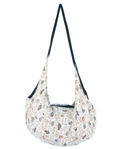 Cotton Backpack Tote Bag with Zip