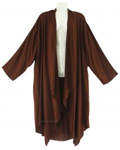 BROWN Lagenlook Duster Plus Size Long Coverup Jacket 1X 2X