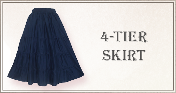 Super flare maxi skirt in classic godet cutting style. It is made of 100% cotton with half-lining.