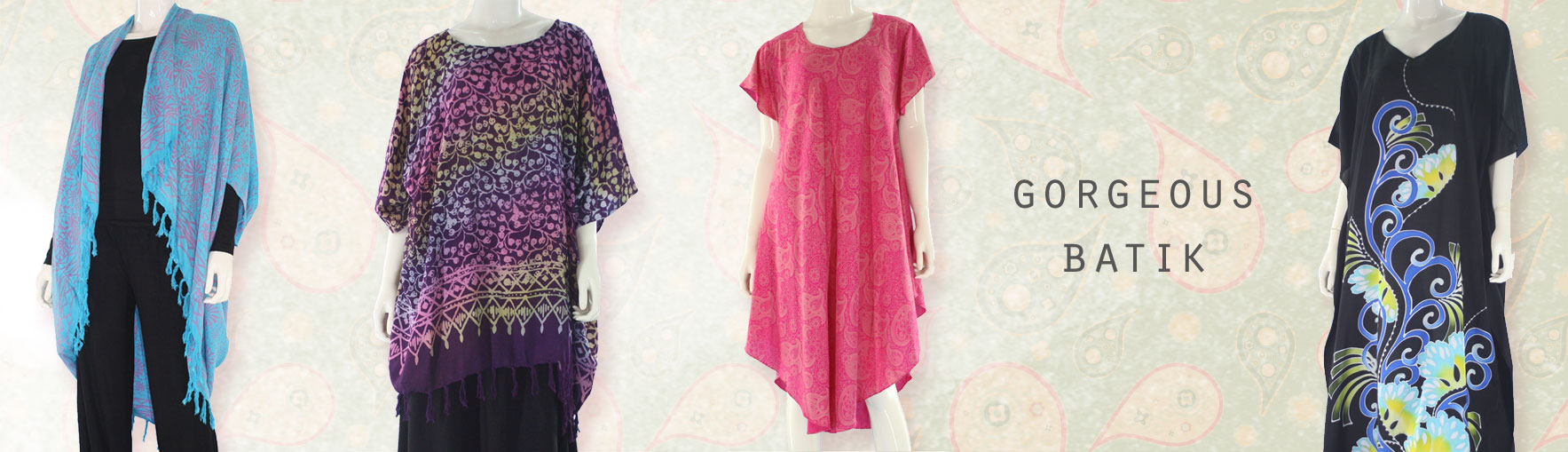 Hand Draw, Block Printed, Tops, Dress, Kaftan, Bali Batik, Clothing