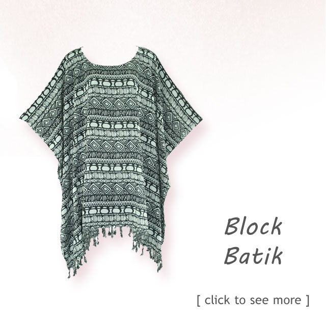 Hand Draw, Block Printed, Batik Tops, Batik tunic