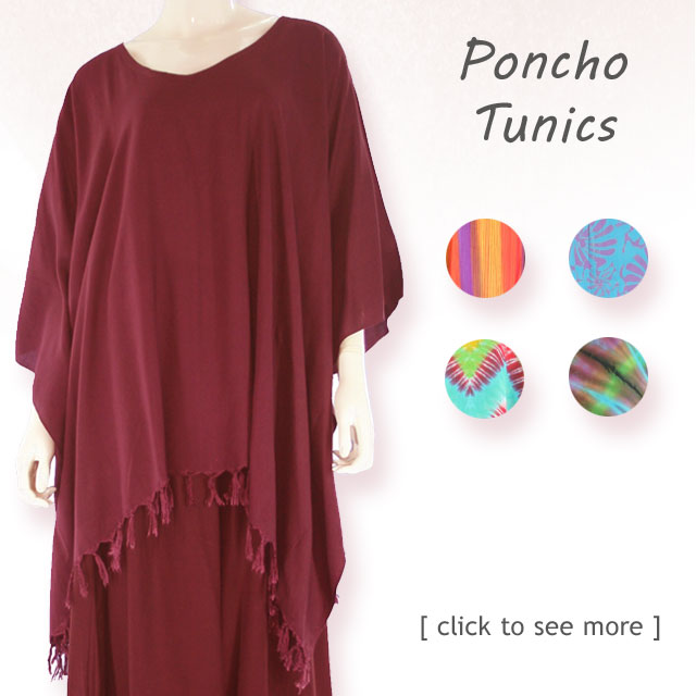 Beautiful women's Plus Size Batik & Tie Dye Print tunic poncho