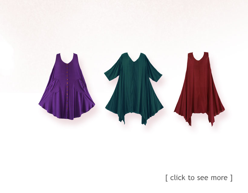 Find your perfect easy wearing plus size layering tops here, comfy, cozy, light and flowy.
