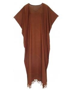 Brown Caftan Kaftan Loungewear Maxi Plus Size Long Dress 3X 4X