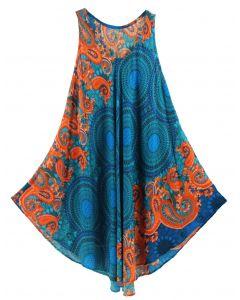 Blue Tank Dress Cover Up Plus Sz 3X