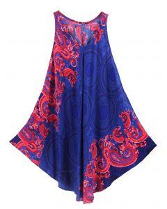 Dark blue Tank Dress Cover Up Plus Sz 3X