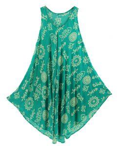 Green Tank Dress Cover Up Plus Sz 3X
