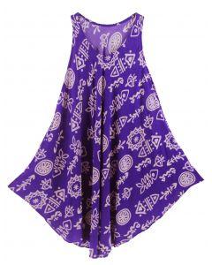 Purple Tank Dress Cover Up Plus Sz 3X