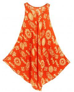 Orange Tank Dress Cover Up Plus Sz 3X