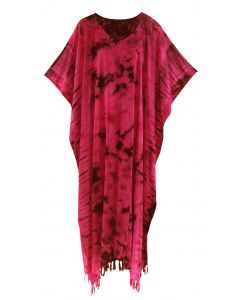 Red Tie Dye Caftan Kaftan Maxi Long Dress 1X 2X 3X 4X