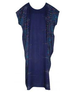 Dark blue Bohomein Flora Plus Size Kaftan Kimono Loungewear Maxi Long Dress XL 1X 2X
