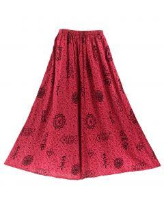 Fuchsia Boho Palazzo Wide Leg Pants Trouser 1X 2X 3X