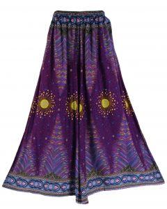 Purple Palazzo Wide Leg Pants Trouser 1X 2X 3X