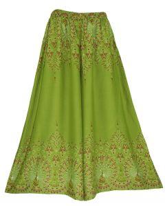 Olive Wide Leg Palazzo Pants Plus Size Hippie Bohemian Flora 1X 2X 3X