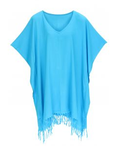 Turquoise Hippie Tunic Blouse Kaftan Top 1X 2X 3X 4X