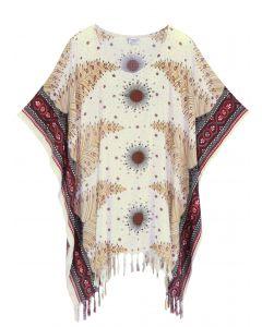 White Plus Size Tunic Tops Flora Short Sleeve V neck Shirt 3X 4X