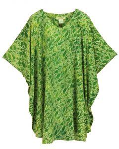 Green HIPPIE Batik CAFTAN KAFTAN Plus Size Tunic Blouse Kaftan Top 3X 4X