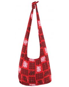 Cotton Sling Bag with Zip