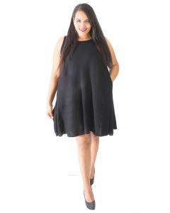 Women Sleeveless Summer Tank Dress Cover Up Plus Sz XL 1X 2X 3X