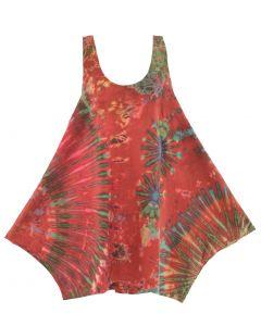 HIPPIE GYPSY Tie Dye Bubble Tunic Dress S M