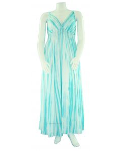 Tie Dye Stripe Maxi Sun Long Dress 1X