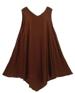 Women Lagenlook Dress Tunic Plus Long Tank Top 1X 2X 3X